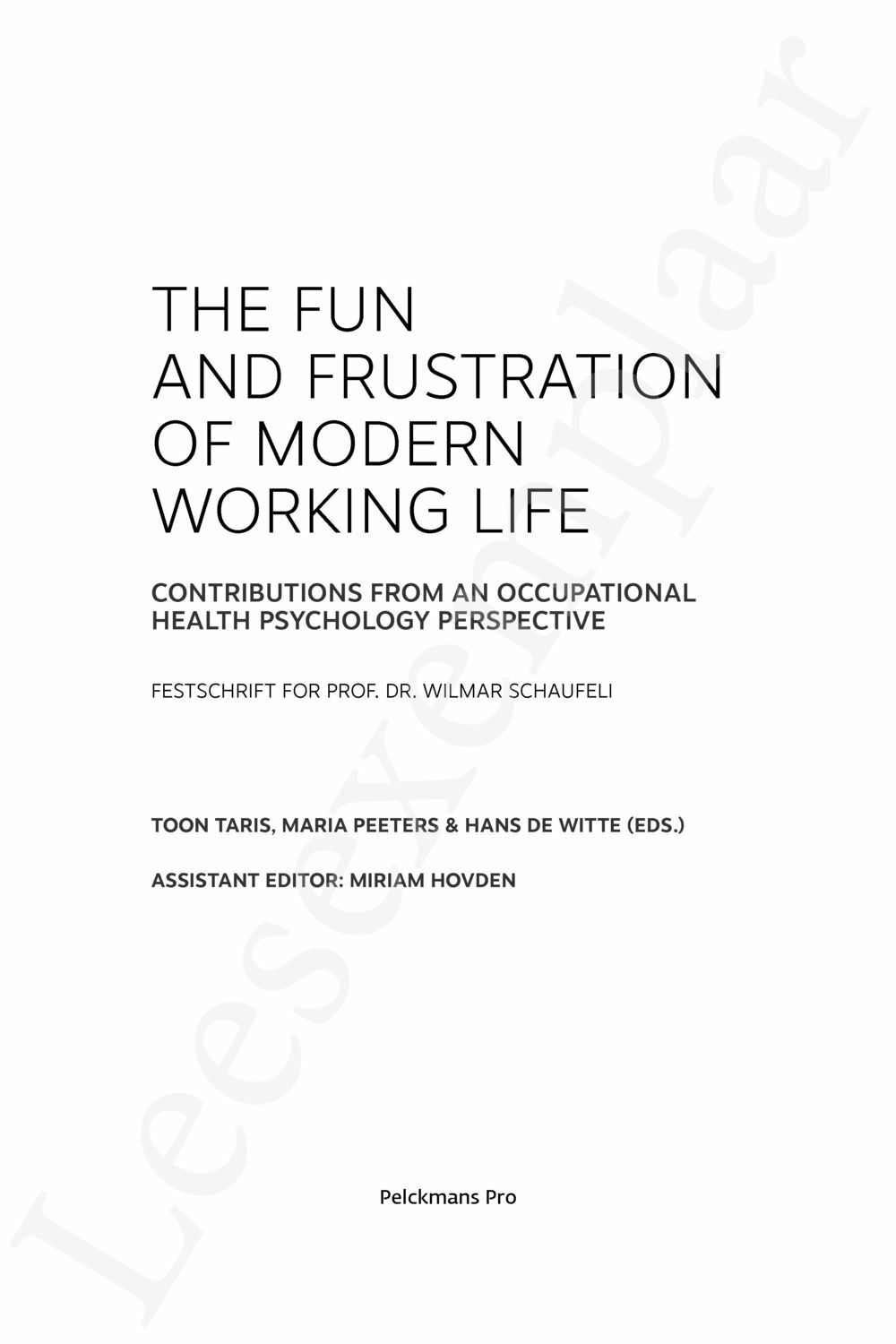 Preview: The Fun and Frustration of Modern Working Life