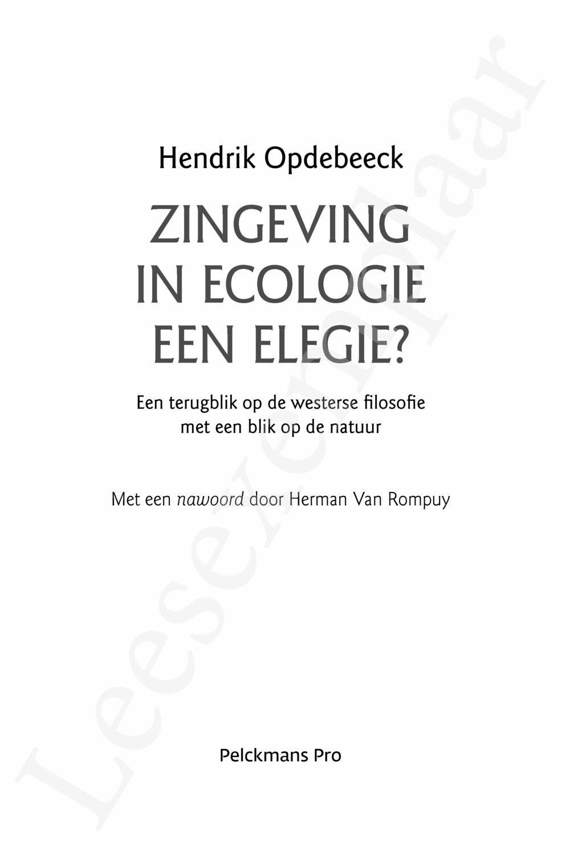 Preview: Zingeving in ecologie