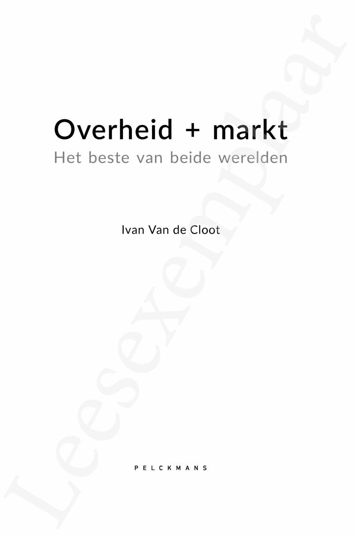 Preview: Overheid + Markt