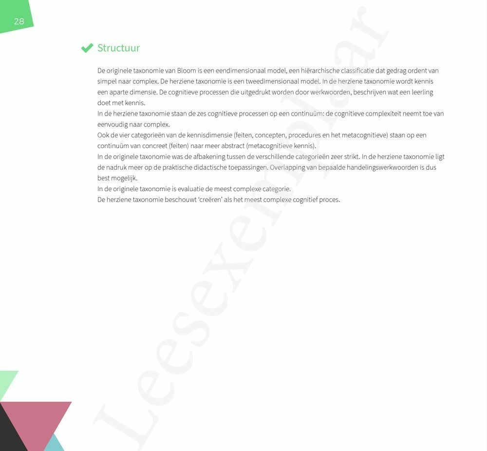 Preview: De herziene taxonomie van Bloom in de klas