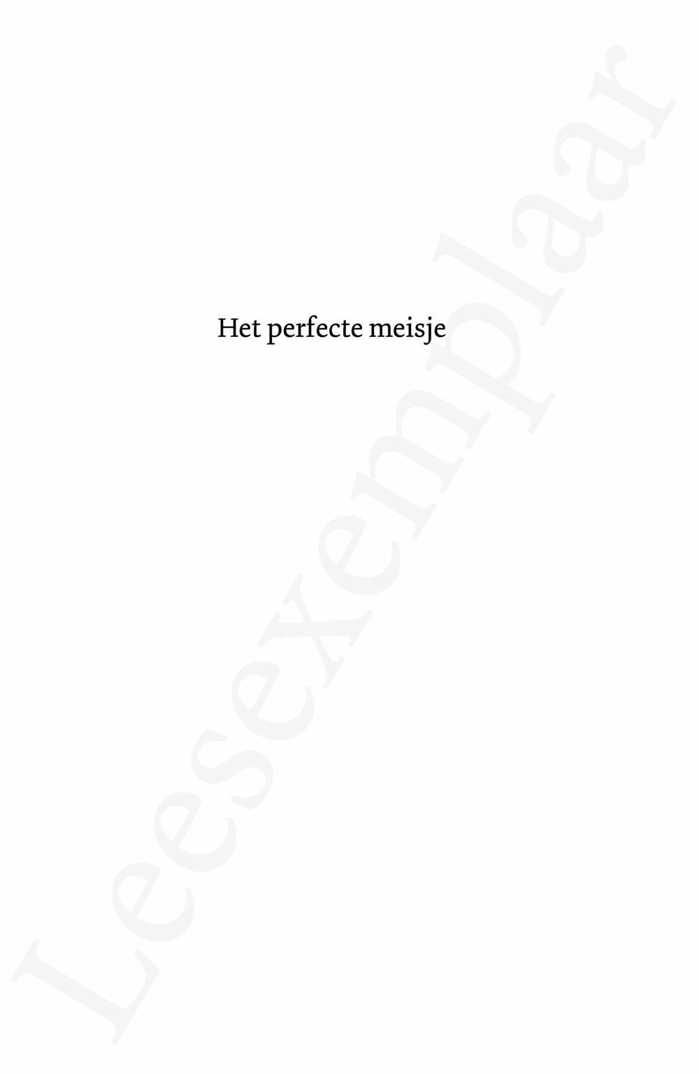 Preview: Het perfecte meisje