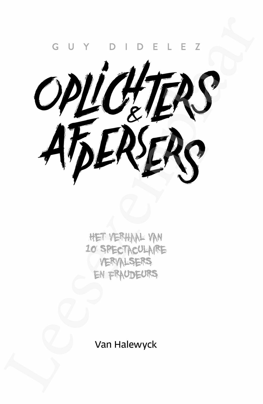 Preview: Oplichters & afpersers