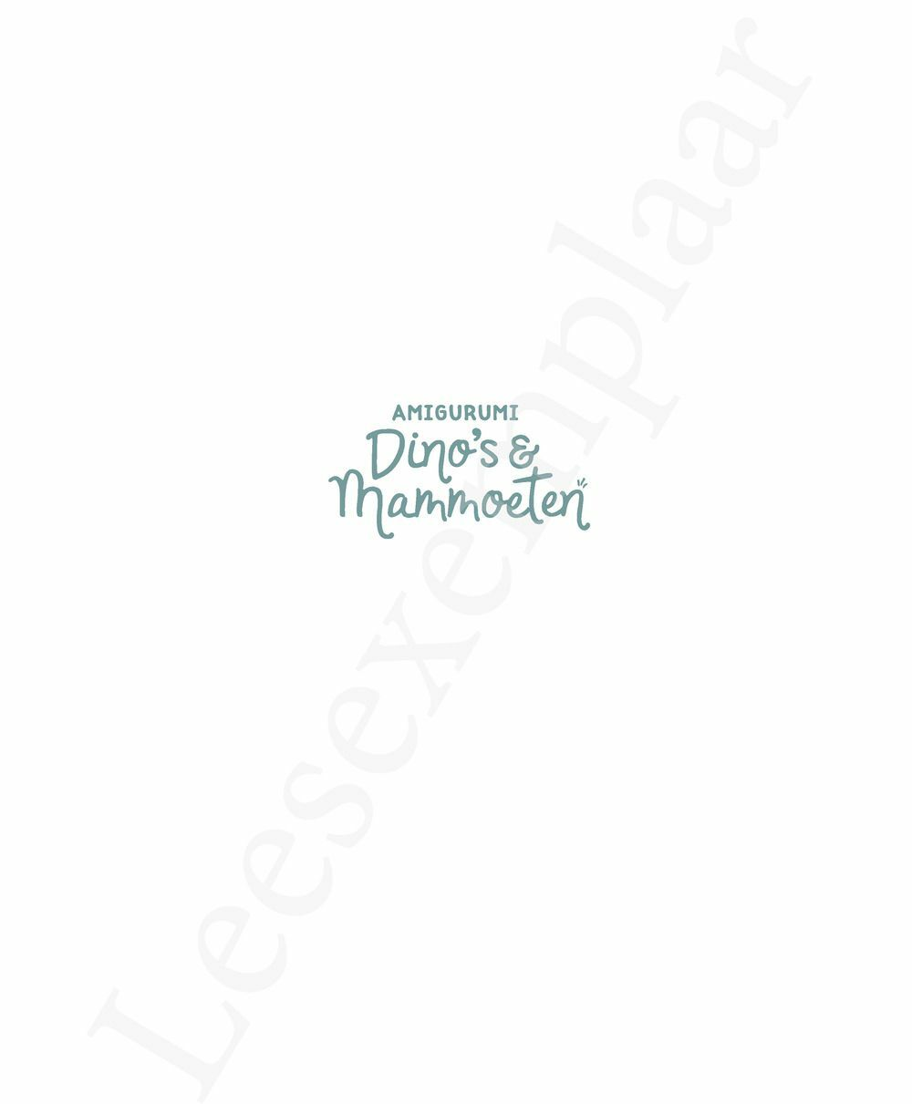 Preview: Amigurumi Dino's en Mammoeten