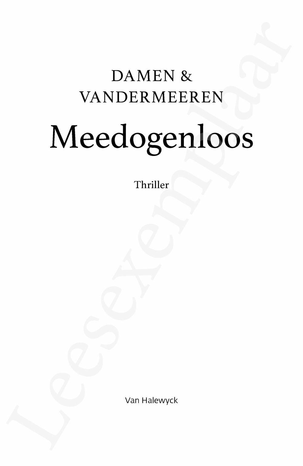 Preview: Meedogenloos
