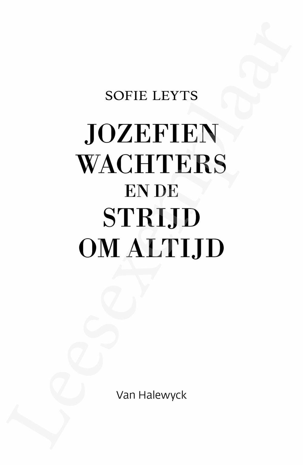 Preview: Jozefien Wachters en de strijd om altijd