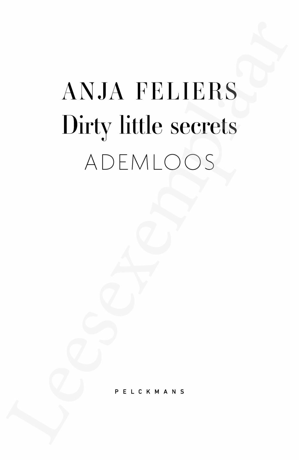Preview: Dirty Little Secrets: Ademloos