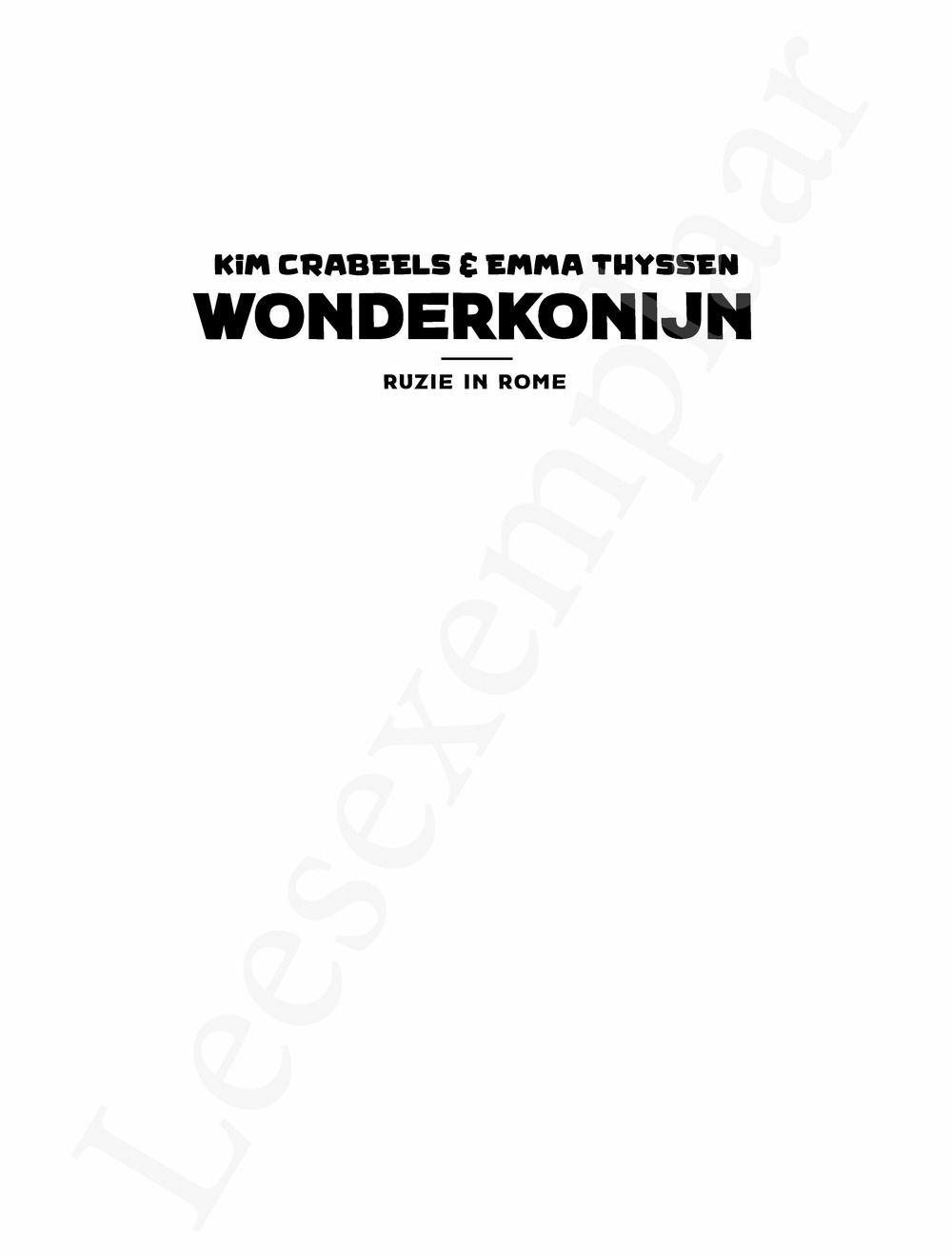 Preview: Wonderkonijn 1: Ruzie in Rome