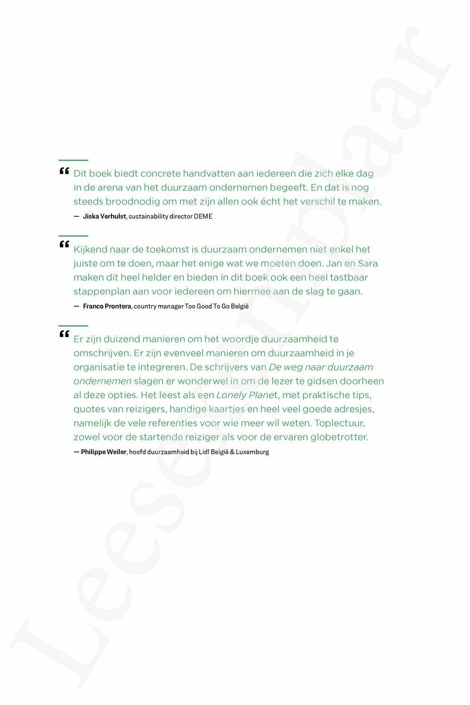 Preview: De weg naar duurzaam ondernemen