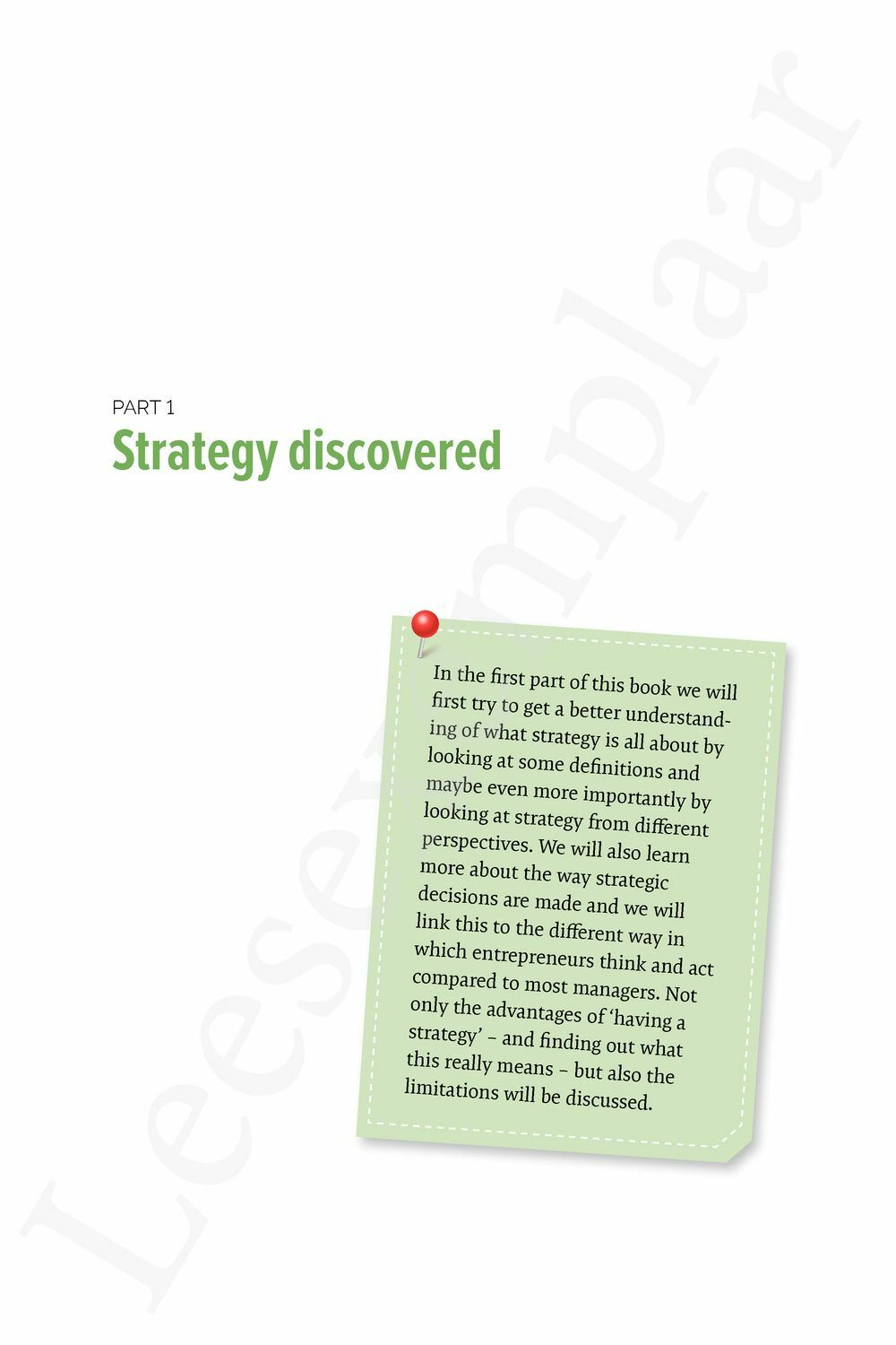 Preview: Mastering Strategy