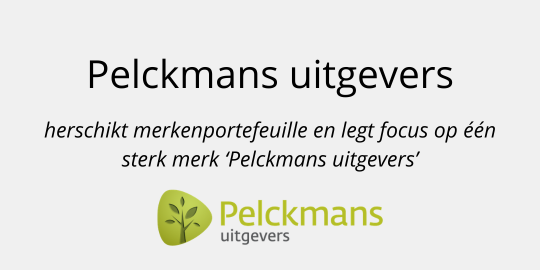 Pelckmans uitgevers herschikt merkenportefeuille