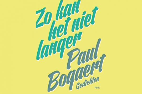 Inleiding boekvoorstelling Paul Bogaert, 'Zo kan het niet langer'